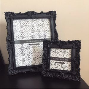 Set of black matching picture frames